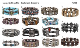 Fancy Magnetic Hematite Stretchable Bracelet