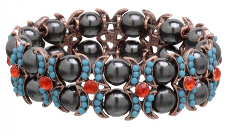 Fancy Magnetic Hematite Stretchable Bracelet