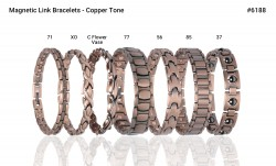 Buy Magnetic Copper Tone Link Bracelet