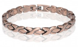 Buy Magnetic Copper Tone Link Bracelet