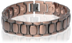 Magnetic Copper Tone Link Bracelet