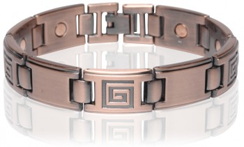 Magnetic Copper Tone Link Bracelet in California