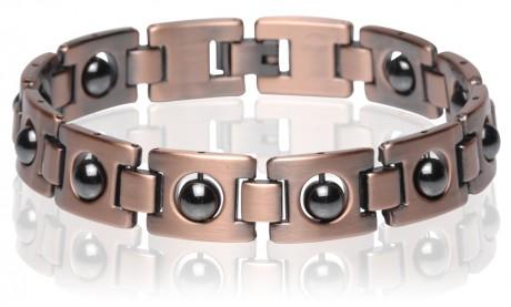 Magnetic Copper Tone Link Bracelet