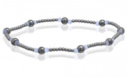 Buy Magnetic Hematite Stretchable Anklets