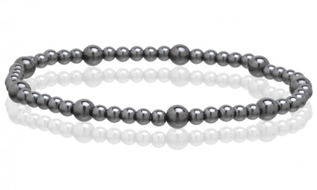 Magnetic Hematite Stretchable Anklets