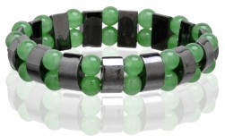 Buy Magnetic Hematite Stretchable Bracelet - 2 Line