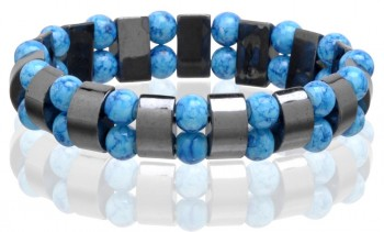 Magnetic Hematite Stretchable Bracelets in California