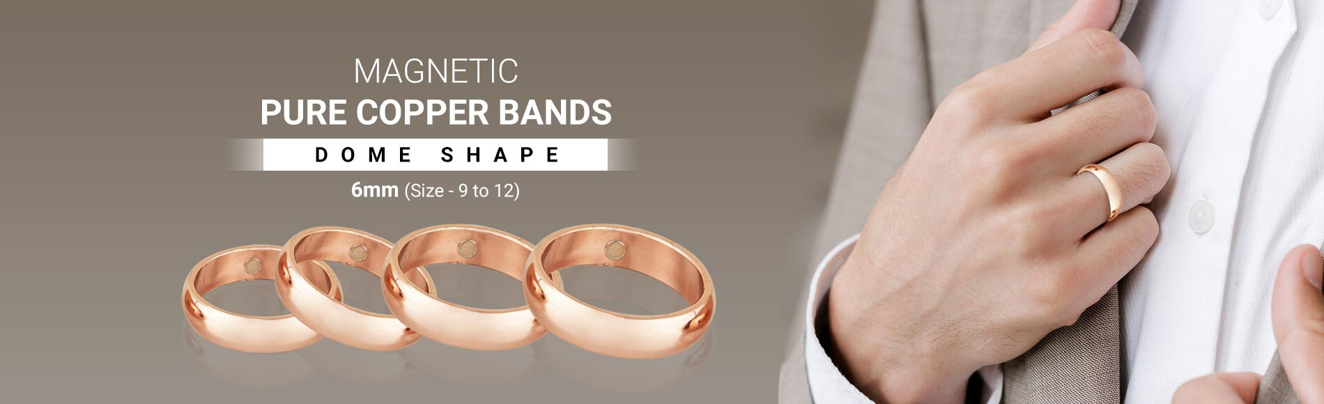 Magnetic Pure Copper Bands