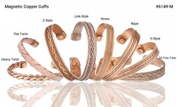 Buy Magnetic Pure Copper Cuffs in Santa Ana, California