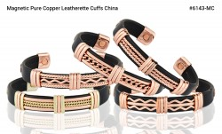 Buy Magnetic Pure Copper Leatherette Cuffs