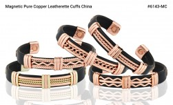 Buy Magnetic Pure Copper Leatherette Cuffs in New York City, New York