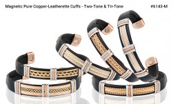 Buy Magnetic Pure Copper Leatherette Cuffs in Santa Ana, California