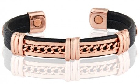 Magnetic Pure Copper Leatherette Cuffs