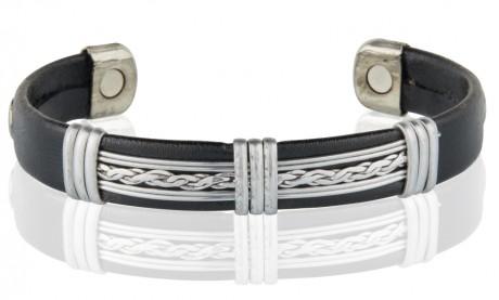Magnetic Pure Copper Leatherette Cuffs