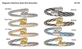 Magnetic Stainless Steel Wire Bracelet