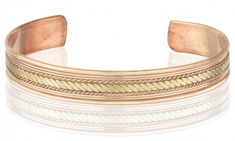 Pure Copper Cuff Dome-Two Tone