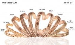 Buy Pure Copper Cuff Link Two Tone