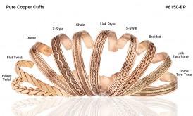 Pure Copper Cuff Link Two Tone