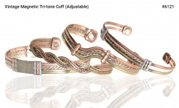 Buy Vintage Magnetic Tri-tone Cuff in Tacoma, Washington